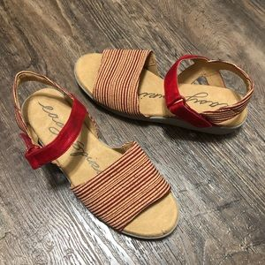Easy Spirit Kala Striped Comfort Sandals
